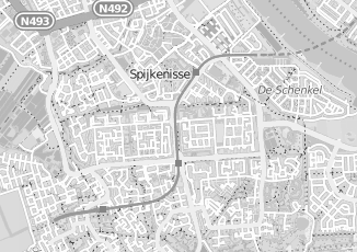 Kaartweergave van Bruijn in Spijkenisse