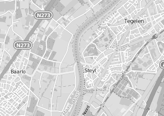 Kaartweergave van Albert heijn in Steyl