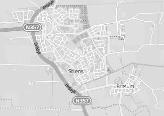 Kaartweergave van Bosma in Stiens