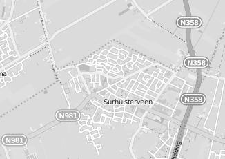 Kaartweergave van Hoeksma in Surhuisterveen