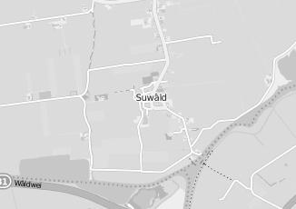 Kaartweergave van Simon van der velde in Suwald