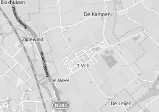 Kaartweergave van Bakker in T Veld