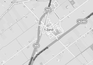 Kaartweergave van Cornelissen in T Zand