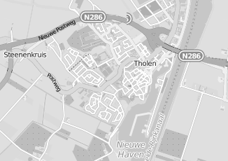Kaartweergave van As in Tholen