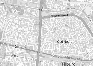Kaartweergave van Bruyn in Tilburg