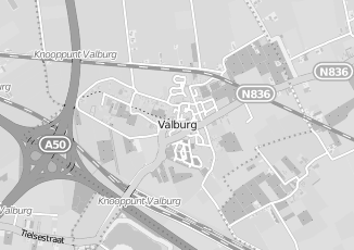 Kaartweergave van Albert heijn in Valburg