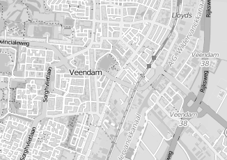 Kaartweergave van Hamminga in Veendam