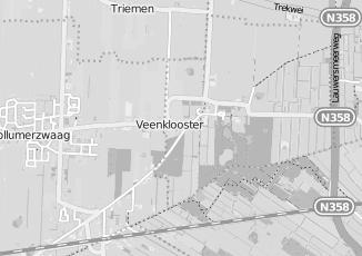Kaartweergave van Milieustraat in Veenklooster