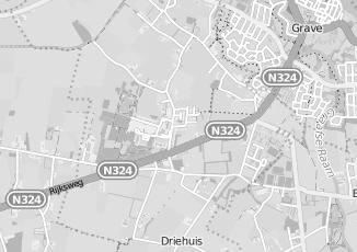 Kaartweergave van Albert heijn in Velp Noord Brabant