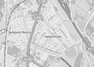 Kaartweergave van Bruin in Velserbroek