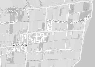 Kaartweergave van Terpstra in Venhuizen