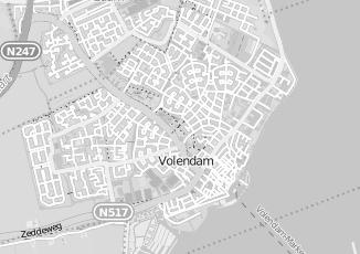 Kaartweergave van Bergen in Volendam