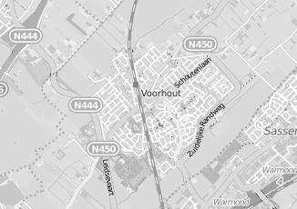 Kaartweergave van Borst in Voorhout