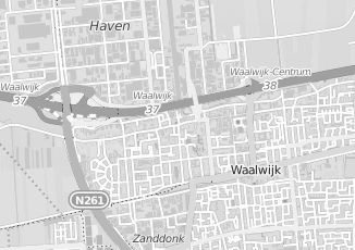 Kaartweergave van Hulten in Waalwijk