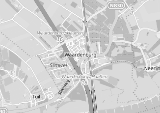 Kaartweergave van Jongh in Waardenburg