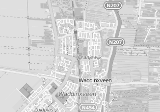 Kaartweergave van Hak in Waddinxveen