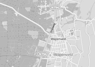 Kaartweergave van Albert heijn in Wapenveld