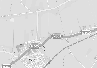 Kaartweergave van Hoek in Warffum