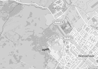 Kaartweergave van Oudshoorn in Wassenaar