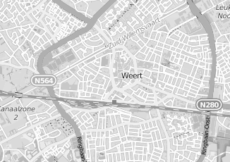Kaartweergave van Maas in Weert
