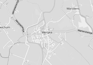 Kaartweergave van Berg in Wergea