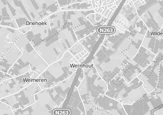 Kaartweergave van Huybregts in Wernhout