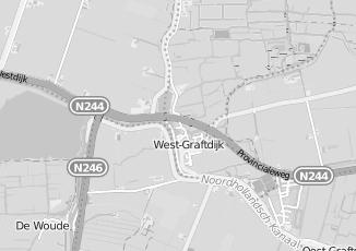 Kaartweergave van Verloskundige in West Graftdijk