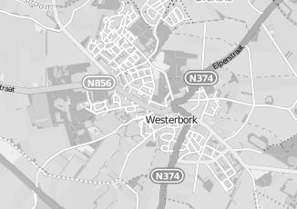 Kaartweergave van Ingenieursbureau in Westerbork