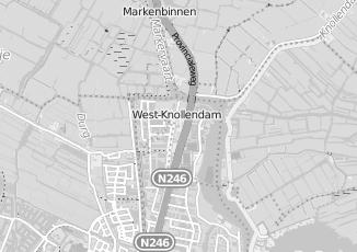 Kaartweergave van Groothandel in kleding en mode in Westknollendam