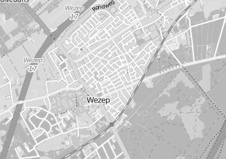 Kaartweergave van Heerde in Wezep