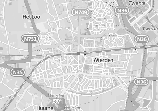 Kaartweergave van Meijerink in Wierden