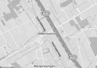 Kaartweergave van Bijker in Willemsoord