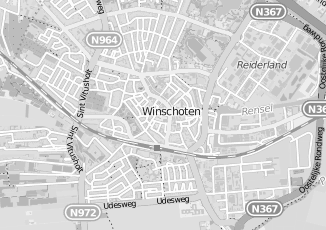 Kaartweergave van Hazenberg in Winschoten