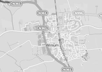 Kaartweergave van Bakker in Winsum