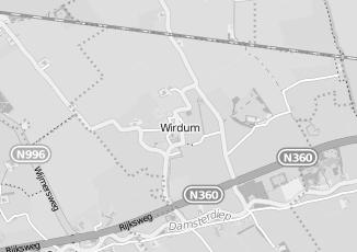 Kaartweergave van Warenhuis in Wirdum Groningen
