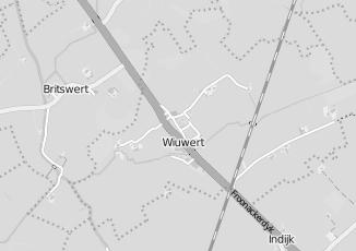 Kaartweergave van Albert heijn in Wiuwert