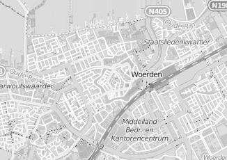Kaartweergave van Hoek in Woerden