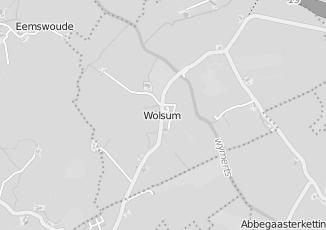Kaartweergave van Bank in Wolsum