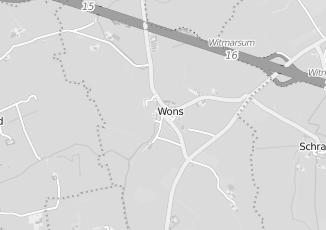 Kaartweergave van W ijntema in Wons