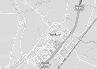 Kaartweergave van Hoekstra in Workum