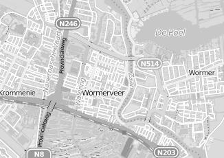 Kaartweergave van Dam in Wormer