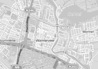 Kaartweergave van Internetdiensten in Wormerveer