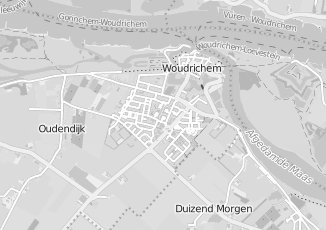 Kaartweergave van Bakker in Woudrichem