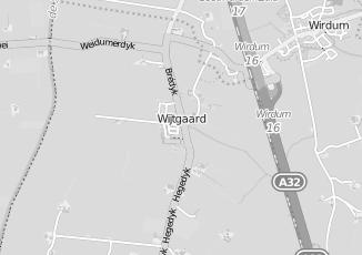 Kaartweergave van Hiemstra in Wytgaard