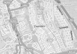 Kaartweergave van Albers in Zaandam
