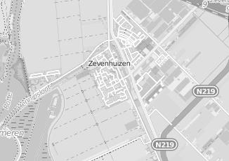 Kaartweergave van Albert heijn in Zevenhuizen Zuid Holland