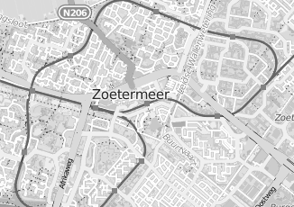 Kaartweergave van Hoogeveen in Zoetermeer