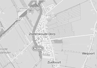 Kaartweergave van Rijn in Zoeterwoude