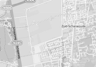 Kaartweergave van Hoogland in Zuid Scharwoude