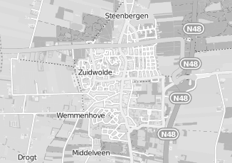 Kaartweergave van Bouman in Zuidwolde Drenthe